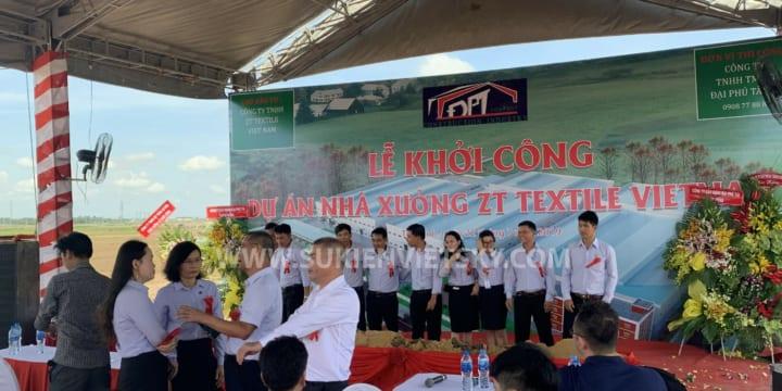 Khởi công | Công ty tổ chức lễ khởi công chuyên nghiệp tại Đồng Nai | Khởi công Nhà xưởng ZT Textile