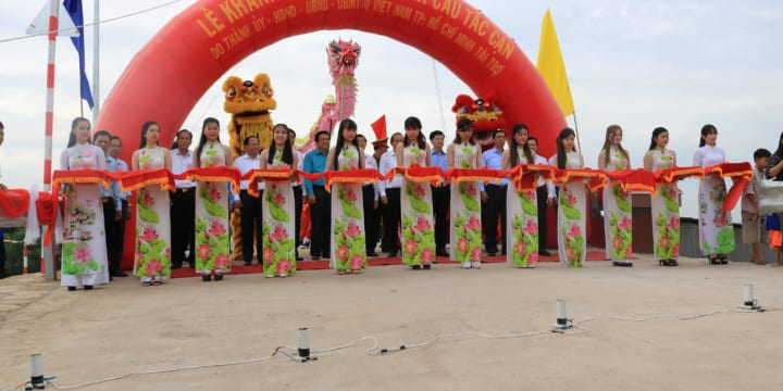 Công ty tổ chức lễ khánh thành tại Long An| Lễ khánh thànhcông trình Cầu Tắc Cạn