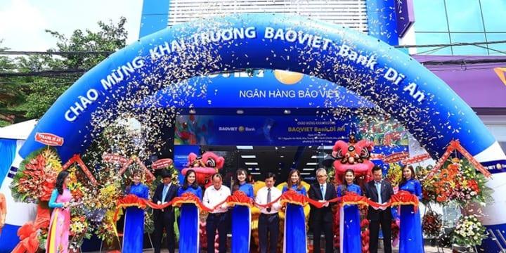 Công ty tổ chức lễ khai trương tại Bình Dương | Khai trương Phòng giao dịch mới BAOVIET Bank Dĩ An