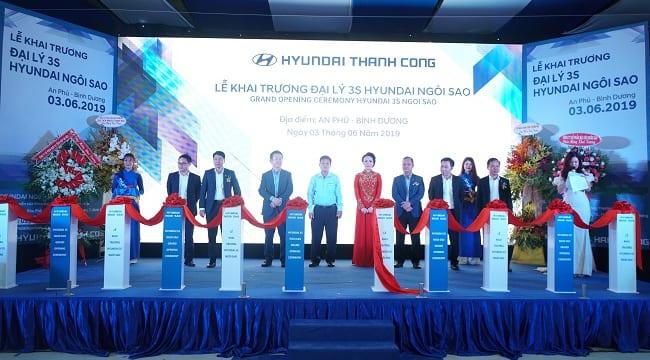 Công ty tổ chức lễ khai trương tại Bình Dương | Lễ khai trương  Đại lý 3S Hyundai Ngôi Sao tại Bình Dương
