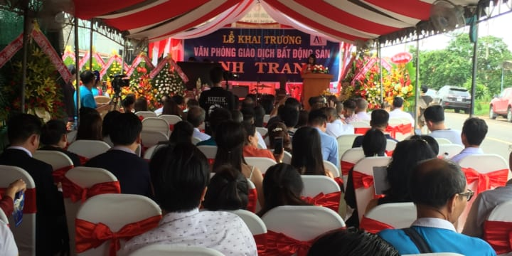Công ty tổ chức lễ khai trương tại Đồng Nai | Khai trương Văn phòng giao dịch bất động sản Anh Trang